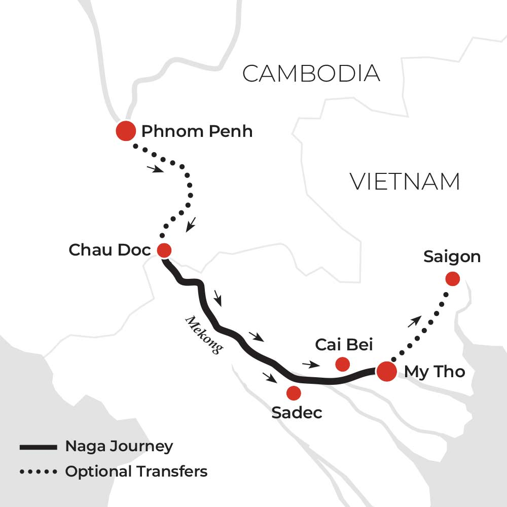 1 Night Across the Mekong Delta Downstream
